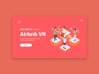 Airbnb VR Landing Page Illustration