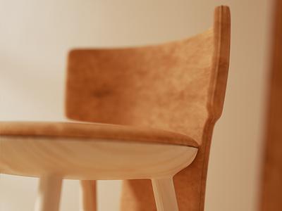 Stool detail chair stool setdesign illustration furniture design cinema4d c4d architecture 3d