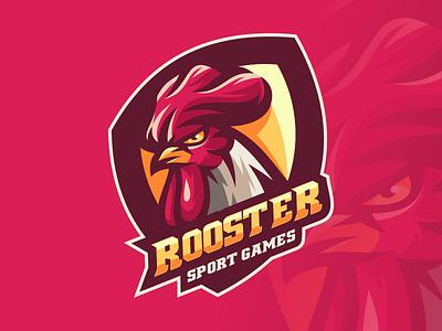 ROOSTER branding illustration emblem design vector brand forsale sport graphic design logo motion graphics animation rooster