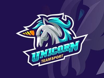 unicorn illustration emblem design forsale sport brand vector ui 3d graphic design motion graphics logo branding animation unicorn