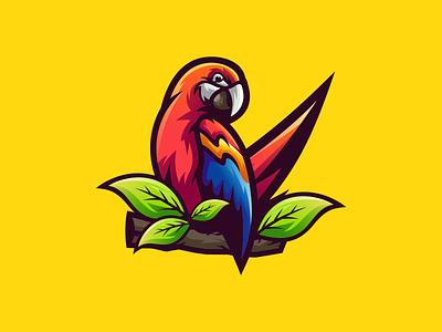 parrot illustration emblem design vector brand forsale sport branding motion graphics logo graphic design 3d animation ui parrot