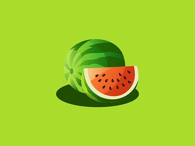 watermelon illustration emblem design vector brand forsale sport ui 3d branding logo motion graphics graphic design animation watermelon