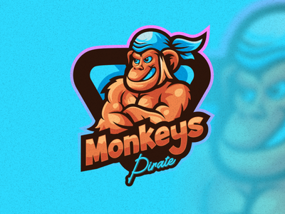 monkeys emblem illustration design vector brand forsale sport 3d branding logo motion graphics graphic design animation monkeys
