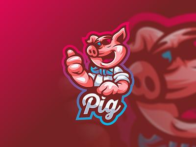 pig illustration emblem design vector brand forsale sport ui branding logo motion graphics graphic design 3d animation pig