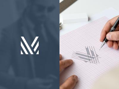 M idea proses icon forsale m letering logo