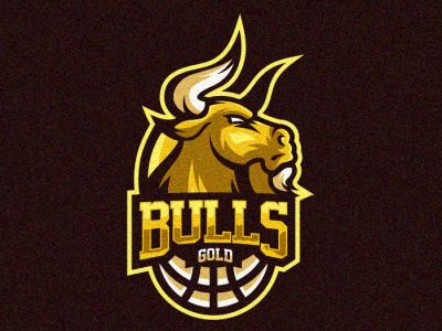 Bulls 1 branding bold cool design animal gamer illustration game gaming vector emblem forsale brand sport logo
