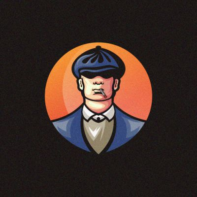 Old Man 11 branding cowboy sale bold gamer illustration cool vintage game design gaming vector emblem icon forsale brand sport logo