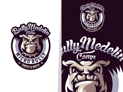 Bully Medelin branding app animal sale bold icon vintage gamer illustration cool game design gaming emblem vector brand forsale sport logo