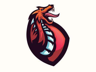 Dragon animation web app cool branding sale animal bold gamer illustration game design gaming emblem vector icon brand forsale sport logo