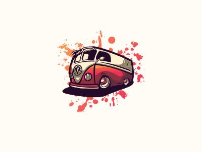 Car 1 bold vintage illustration cool game design gaming emblem vector icon brand forsale sport logo