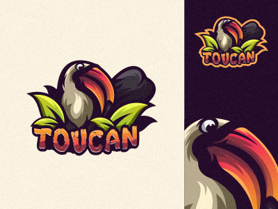 Toucan 1 app cowboy animal sale vintage branding bold gamer illustration cool game design gaming emblem vector icon brand forsale sport logo