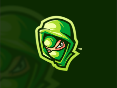 NINJA 1 bold cool game design emblem forsale vector brand sport logo