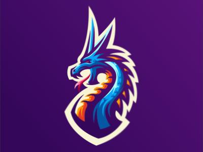 dragon bold illustration gaming design emblem vector forsale brand logo sport dragon