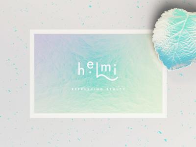 Helmi Business Card iridescent cosmetics lettering logo design brand strategy design visual identity brand identity logo branding