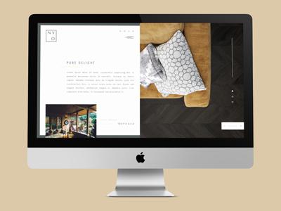 NY Ovi webdesign web site interior design brand design branding