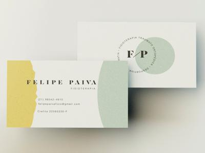 Felipe Paiva Physiotherapist corporate identity visual identity brand identity brand design business card physiotherapist