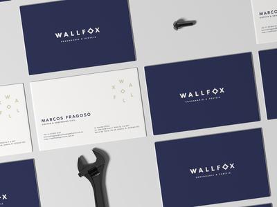 Wallfox Business cards engeneering logo design brand strategy brand design brand identity visual identity logo branding