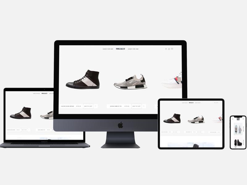 Fhil&Co Ecommerce Website responsive web design webdesign ui branding