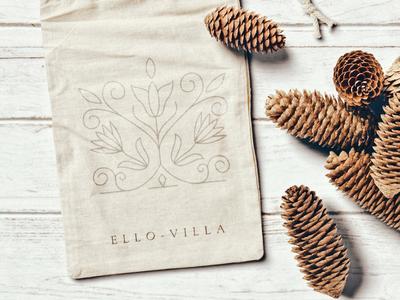 Ello-Villa ecobag logo design visual identity branding