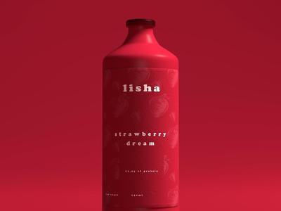 Lisha brand identity design strategy visual identity branding red bottle