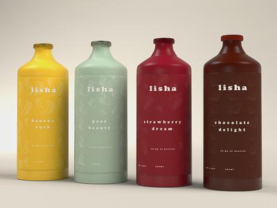 Lisha Bottles brand design visual identity logo brand strategy brand identity food business branding bottles