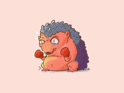 Tough Nut concept cartoon drawing photoshop illustration characterdesign design character