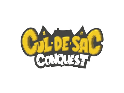 Logo for board game Cul-De-Sac Conquest design illustration cartoon cartoony logo boardgame game