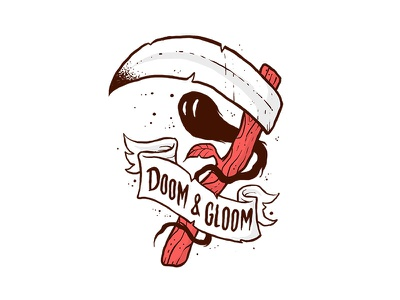 Doom and Gloom Flash tattoo lowbrow sketch drawing illustration doodle sticker flash
