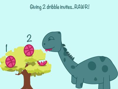 Rawrrrr rawr dribbbleontrees dribbblelogo dinosaureatsinvites dinosaurlove dribbbleinvites invites