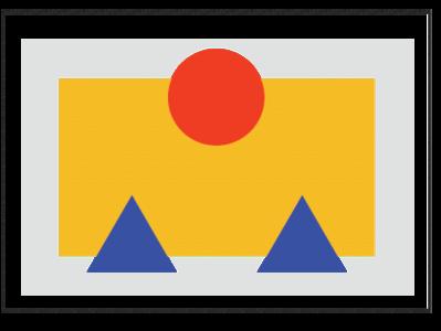Image placeholder - Bauhaus style