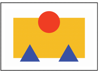 Image placeholder - Bauhaus style bauhaus100 mountainsandsun imageplaceholder everythingisrelative relative bauhausdesign experimenting bauhaus shapes forms