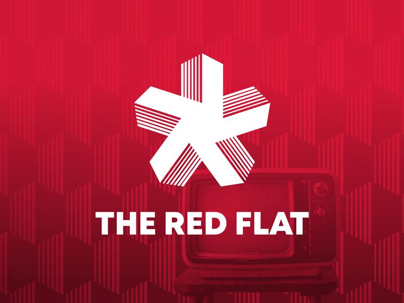 The Red Flat Logo 2 vector branding logo design logo design