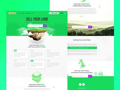 Sell Your Land Online clean design interface ui user ux web estate agency landlord estate agent land real estate