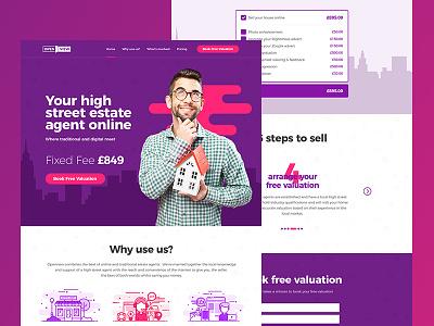 Estate Agent Online landlord estate agent estate agency real estate web ux user ui interface design clean