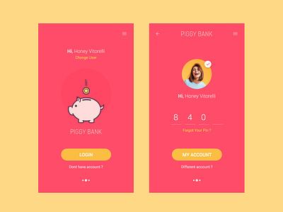 Piggy Bank Adobe XD Freebie adobe xd xd free freebie money loan bank bank app clean app ux ui