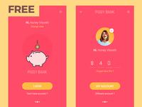 Piggy Bank Adobe XD Freebie