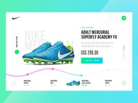 Visual exploration for Nike website shop app freebie ux ui e-commerce shop footbal design clean nike