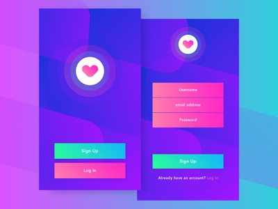 Sign Up - #dailyui #001 gradient ui dailyui sign up 001 dailyui app mobile interaction free ux