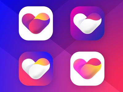 App Icon- #dailyui #005 free branding logo dailyui gradient android ios icons app love heart 005