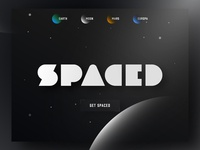 SPACED Logo and Homepage Concept #SPACEDchallenge