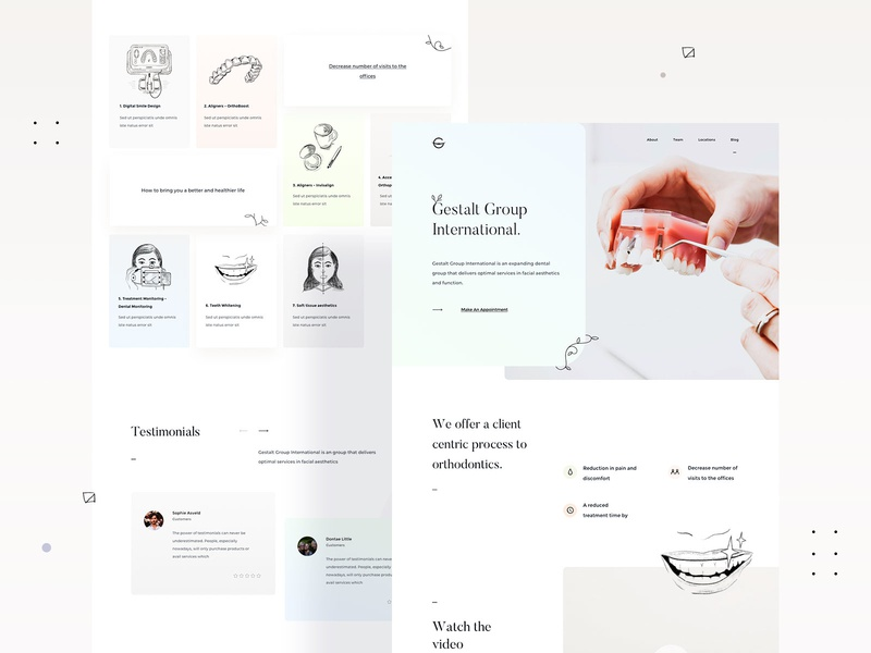 Gestalt Group - International - Website Design & Illustrations illustration illustrations userinterfaces web ux uiux userinterfacedesign design ui webdesign