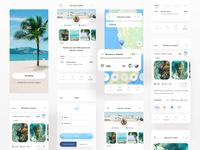 WeSwim - Mobile App mobile app beaches swim swimming mobie mobile ui uiux ux userinterfacedesign design webdesign ui