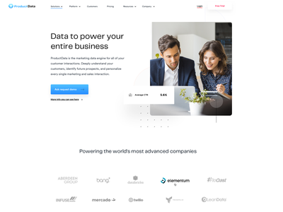 Data Company Website Design userinterfaces web typography vector landingpage uiux userinterfacedesign ui design webdesign
