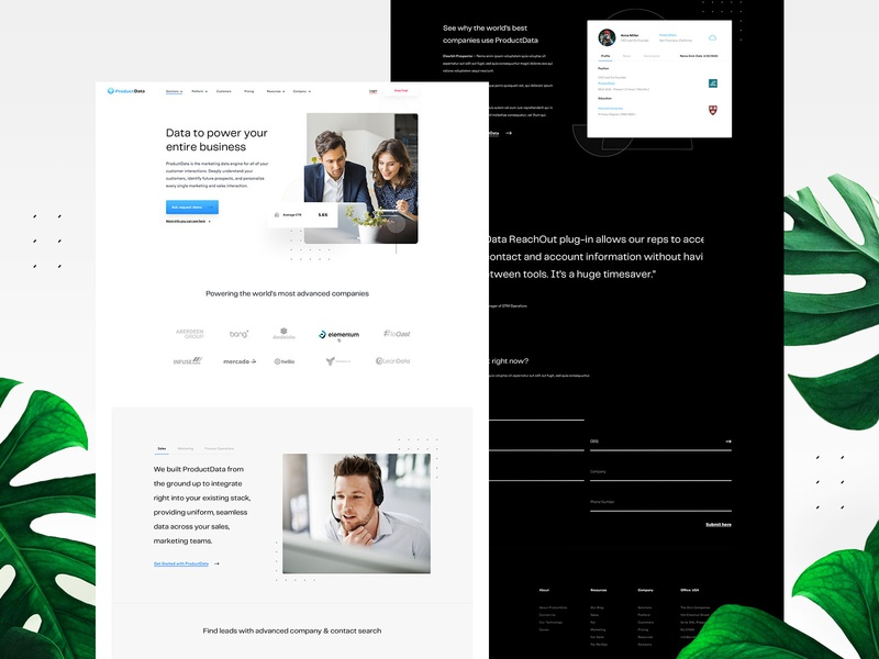 Data Company Website Design userinterfaces web typography vector landingpage uiux userinterfacedesign ui design webdesign