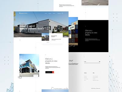 Real Estate Website Design landingpage webdesigner userinterfaces web ux uiux userinterfacedesign design webdesign ui