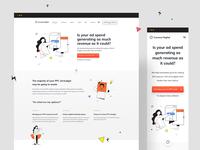 Coconut Digital - Website Design + Illustrations (live) userinterfaces landingpagedesign illustration landingpage illustrations uiux userinterfacedesign design webdesign ui