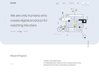 StarStudio Website (live) 🌟 illustration landingpage userinterfaces web ux uiux userinterfacedesign design webdesign ui