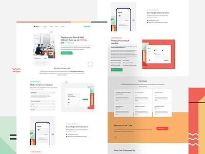 MailPortal Landing page + graphics illustrations illustration landingpage userinterfaces web uiux userinterfacedesign design webdesign ui