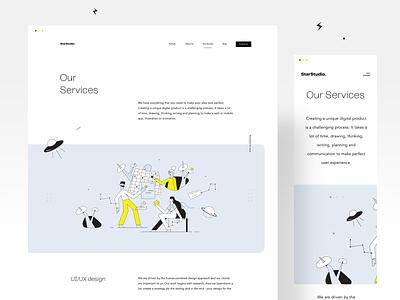 StarStudio - Our Servics (live) illustrations landingpage userinterfaces web uiux ux userinterfacedesign design webdesign ui