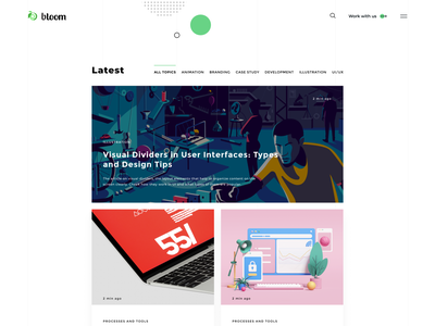Bloom - Blog Redesign blog websiteblog website uidesigner web ux uiux userinterfacedesign design webdesign ui